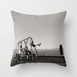 The Swing Set Throw Pillow