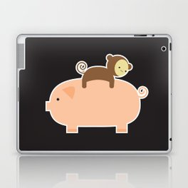 Baby Monkey (Black Bg) Laptop & iPad Skin