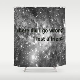 How To Save A Life Galaxy - The Fray Shower Curtain