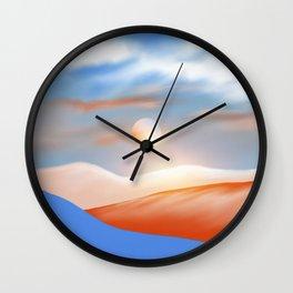 Minimal mountains 02 Wall Clock