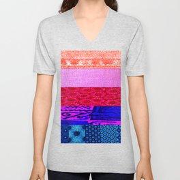 Transgender Retro Flag Unisex V-Neck