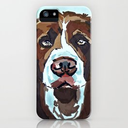 Swimming Dog Portrait iPhone Case