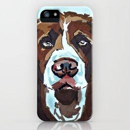 Swimming Dog Portrait iPhone Case