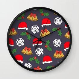 Jingle Bells Christmas Collage Wall Clock
