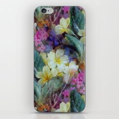 Pink yellow purple floral pattern iPhone & iPod Skin