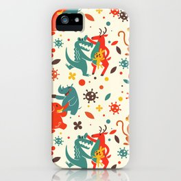 Pandemic Pattern - No Humans iPhone Case