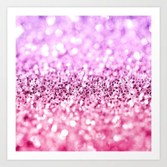 Glamorous Glitter  Art Print