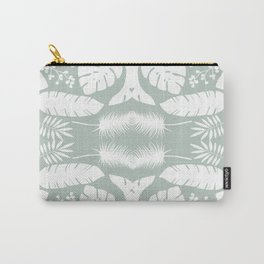 Gray and White Seamless Pattern Carry-All Pouch
