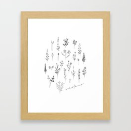 Wildflowers II Framed Art Print