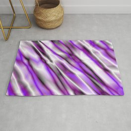 A bright cluster of violet bodies on a light background. Rug