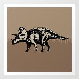 ChocoPaleo: Triceratops Art Print