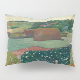 Haystacks in Brittany Oil Painting by Paul Gauguin Pillow Sham