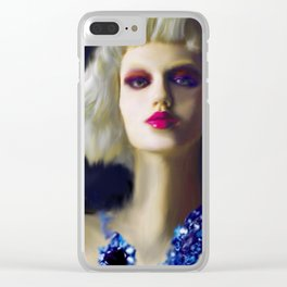 The Girl With The Blue Earring Clear iPhone Case