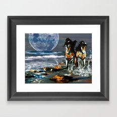 TWO IN ONE SHADOW Framed Art Print