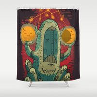 hero Shower Curtains featuring :::Unlikely hero::: by Ilias Sounas