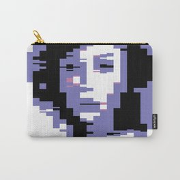 8 Bit Portrait of a Girl Carry-All Pouch