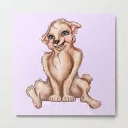 Cutie Patootie Pup Metal Print