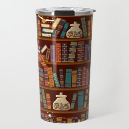 Bookshelf Travel Mug