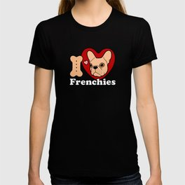 I Love Frenchies design for all the Frenchie Lovers T-shirt
