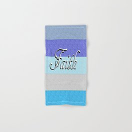 FAITH on Blue Hand & Bath Towel