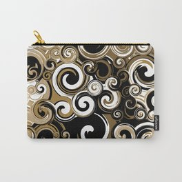 Coffee Swirls Carry-All Pouch