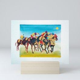 Melbourne Cup     by Kay Lipton Mini Art Print