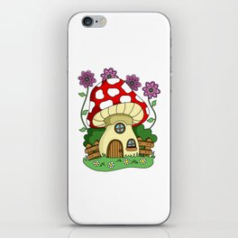 Toadstool Fairy House iPhone Skin