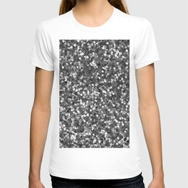 Dazzling Sparkles (Black and White) T-shirt
