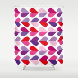 Love and Kisses in Ultra Violet Shower Curtain
