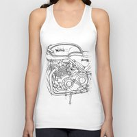 cafe racer Tank Tops featuring NORTON COMMANDO 961 CAFE RACER 2011 by Larsson Stevensem