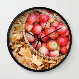 Fall apples Wall Clock
