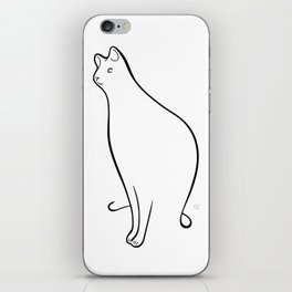 Linear Cat 01 iPhone Skin