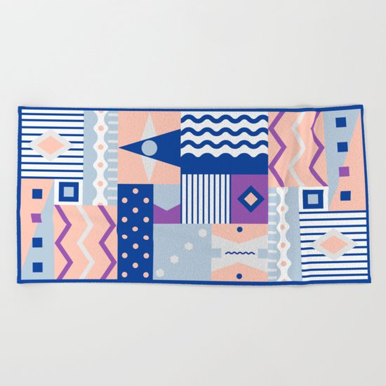 pause Beach Towel