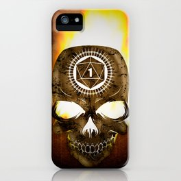 D20 Death Comes for Us All iPhone Case