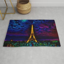 Paris Starry Night by Jeanpaul Ferro Rug