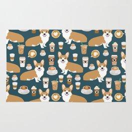 Corgi Coffee print corgi coffee pillow corgi iphone case corgi dog design corgi pattern Rug
