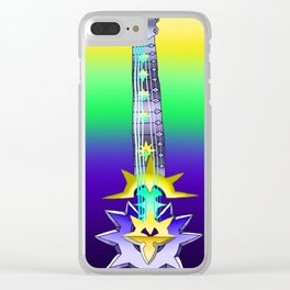 Fusion Keyblade Guitar #118 - Aubade & Saix's Claymore Clear iPhone Case