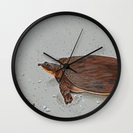 Turtle Crossing Wall Clock
