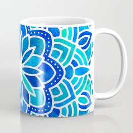 Mandala Iridescent Blue Green Coffee Mug
