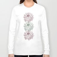 peonies Long Sleeve T-shirts featuring Peonies by Zen and Chic