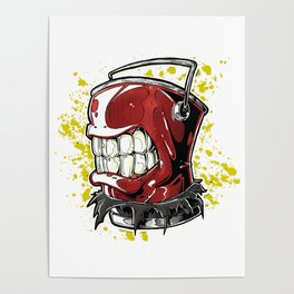 Silver Paint Back Poster
