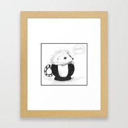 Hedghog Named Pants Framed Art Print