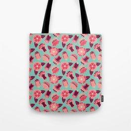 flat flowers - pattern Tote Bag