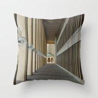 outdoor Throw Pillows featuring Outdoor Corridor by Kevin Myron