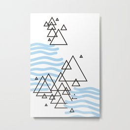 Ocean Mountains Island Metal Print