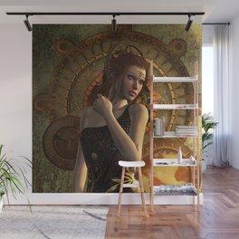Steampunk, wonderful steampunk women Wall Mural