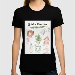 Winter Favorites in Watercolor T-shirt