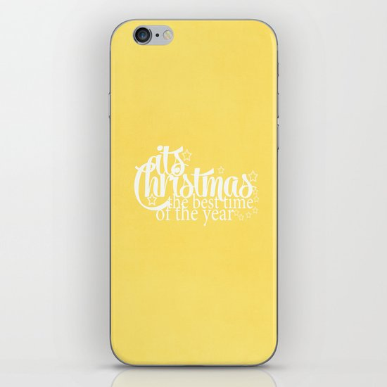Its Christmas {Gold} iPhone & iPod Skin