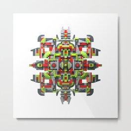 Steampunk Snowflake Metal Print