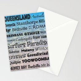 Queensland Poster Stationery Cards